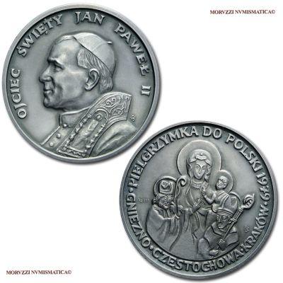 Viaggio di Giovanni Paolo II in Polonia: Madonna Nera di Czestochowa, Emissione: 1979, Opus Stanislawa Watrobska, Rif. bibl. CRW, 0059; Metallo: AR, gr. 26,89, (MP141987), Diam.: mm. 40,03, FDC