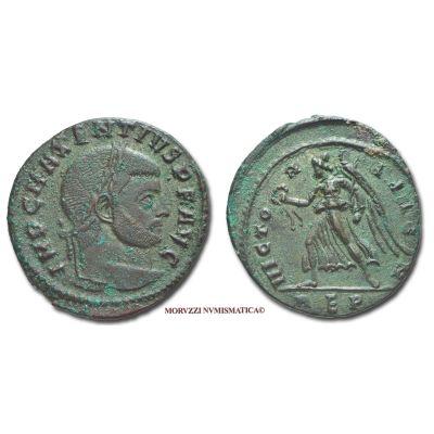 MASSENZIO, 306-312 d.C., FOLLIS, Emissione: 310-311 d.C., Zecca di Roma, Rif. bibl. R.I.C., 272/S; Cohen, 126/Fr.3; Metallo: AE, gr. 5,91, (MR26895), Diam.: mm. 24,54, qSPL, (R)
