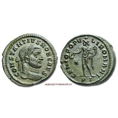 COSTANZO I CLORO, Cesare, 305-306 d.C. d.C., FOLLIS, Emissione: 296-297 d.C., Zecca di Ticinum, Rif. bibl. R.I.C., 32a; Cohen, 107; Metallo: AE, gr. 10,43, (MR26898), Diam.: mm. 28,95, mSPL