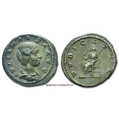 GIULIA MESA, Sorella di Giulia Domna, 193-211 d.C., DENARIO, Emissione: 218-222 d.C., Zecca di Roma, Rif. bibl. R.I.C., 268; Cohen, 36; Metallo: AR, gr. 3,28, (MR50974), Diam.: mm. 20,05, qSPL