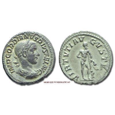 GORDIANO III, Pio, 238-244 d.C., DENARIO, Emissione: 241-243 d.C., Zecca di Roma, Rif. bibl. R.I.C., 116/R; Cohen, 403; Metallo: AR, gr. 3,34, (MR71580), Diam.: mm. 19,65, SPL, (R)  Ex Sotheby's Milano 2004 n. 83; ex P. & P. Santamaria.