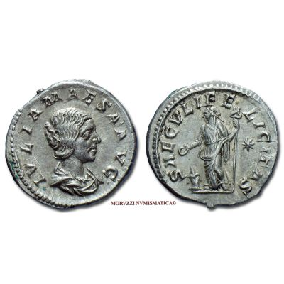 GIULIA MESA, 218-222 d.C., DENARIO, Emissione: 218-222 d.C., Zecca di Roma, Rif. bibl. R.I.C., 271; Cohen, 45; Metallo: AR, gr. 3,05, (MR8522), Diam.: mm. 19,09, SPL