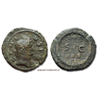 Impero Romano, GALLIENO, 253-268 d.C., SESTERZIO, Emissione: 260-268 d.C., D/ GENIVS P R, testa laureata e turrita del Genio a destra, R/ INT VRB S C, all'interno di una corona di foglie di alloro, Zecca di Roma, Rif. bibl. R.I.C., 1 interregnum; Cohen, 3