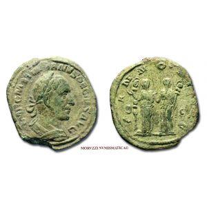 TRAIANO DECIO, SESTERZIO, 249-251 d.C., PANNONIAE S C, (RIC 124a)