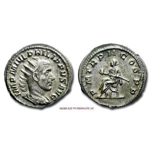 FILIPPO I L'ARABO, ANTONINIANO, 245 d.C., PM TR P II COS P P, zecca di Roma, ARGENTO, mSPL, (RIC 2b) / Philippus the Arab SILVER ANTONINIANUS ancient Roman Imperial coins (monete romane imperiali antiche d'argento - moneta romana antica - Impero Romano)