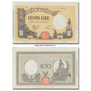Italia, Luogotenenza, BANCA D'ITALIA, 100 LIRE, 09.12.1942, Barbetti - Grande B (Fascio Littorio), Firme: Azzolini, Urbini, FDS, (Crapanzano 220) / banconote italiane (cartamoneta italiana da collezione - banconota da 1.000 lire)
