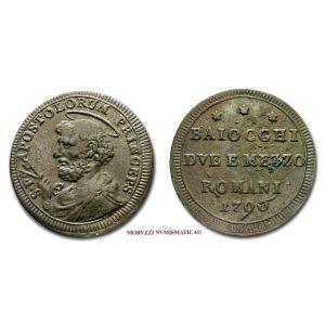 Stato Pontificio, PIO VI, 2 e 1/2 BAIOCCHI, 1796, (Muntoni 425)