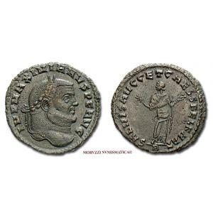 MASSIMIANO ERCULEO, FOLLIS, 298-299 d.C., SALVIS AVGG ET CAESS FEL KART A, (RIC 29b/S)