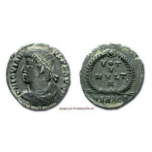GIOVIANO, PICCOLO BRONZO, 363-364 d.C.