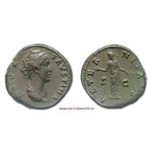 FAUSTINA I, SESTERZIO, dopo il 141 d.C., AETERNITAS, (RIC 1102)