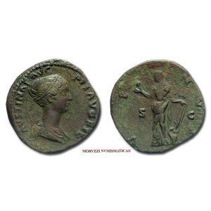 FAUSTINA II, SESTERZIO, 145-146 d.C., VENVS, (RIC 1388b)