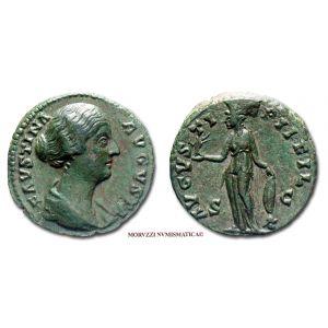 FAUSTINA II, ASSE, 145-146 d.C., AVGVSTI PII FIL, S C, (RIC 1389b)