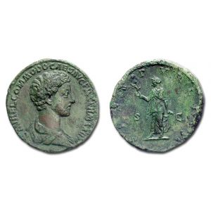 COMMODO, SESTERZIO, 175-176 d.C., SPES PVBLICA, S C, (RIC 1530/S)