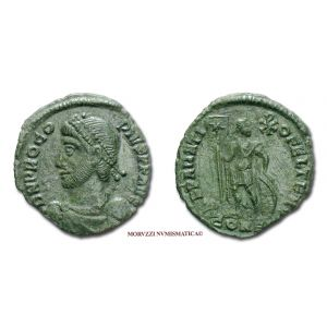PROCOPIO, PICCOLO BRONZO, 365-366 d.C., REPARATIO FEL TEMP / CONS#G#, Costantinopoli, mBB, (RR), (RIC 17a2/R2) / Procopius Constantinople BRONZE Roman Imperial coins (monete romane imperiali di bronzo - Impero Romano) Procope - Bronce
