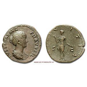 FAUSTINA II, SESTERZIO, 145-146 d.C., PVDICITIA, S C, (RIC 1380/S)