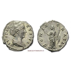 FAUSTINA I, DENARIO, dopo il 141 d.C., CONSECRATIO Cerere, Roma, ARGENTO, mSPL, (RIC 382a) / FAUSTINA MAGGIORE (Major) SILVER DENARIUS ancient coins (monete romane imperiali antiche d'argento - moneta romana antica - Impero Romano) Faustine DENIER