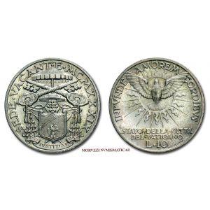 Stato Pontificio, SEDE VACANTE 1939, 10 LIRE, Camerlengo Card. Eugenio Pacelli, (Pagani 702)