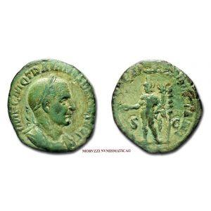 TRAIANO DECIO, SESTERZIO, 249-251 d.C., GENIVS EXERC ILLVRICIANI / S C, (RIC 117/S)