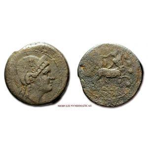 ANONIMO, TRIENTE SEMILIBRALE, 217-215 a.C., Figura femminile diademata / Ercole combatte il centauro / ROMA, zecca di Roma, MB, (R), (Crawford 39/1) / ANONYMOUS Triens Hercules ancient Roman Republican coins (monete romane repubblicane antiche di bronzo)