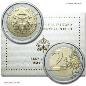 Città del Vaticano, SEDE VACANTE, 2 euro, 2013, FDC