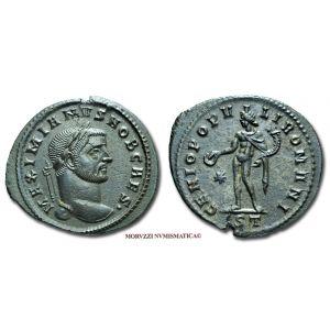 GALERIO MASSIMIANO, Cesare, 293-311 d.C., FOLLIS, Emissione: 296-297 d.C., Zecca di Ticinum, Rif. bibl. R.I.C., 32b; Cohen, manca; Metallo: AE, gr. 7,90, (MR26906), Diam.: mm. 28,71, qSPL