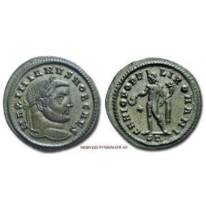 GALERIO MASSIMIANO, Cesare, 293-311 d.C., FOLLIS, Emissione: 298-299 d.C., Zecca di Ticinum, Rif. bibl. R.I.C., 35b; Cohen, manca; Metallo: AE, gr. 9,26, (MR26912), Diam.: mm. 29,13, SPL  Ex Sintoni 1583/2.
