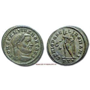 COSTANZO I CLORO, 309-313 d.C., FOLLIS, Emissione: 298-299 d.C., Zecca di Ticinum, Rif. bibl. R.I.C., 35a; Cohen, 107; Metallo: AE, gr. 10,34, (MR26913), Diam.: mm. 29,27, mSPL,   Ex Sintoni 1585/2.