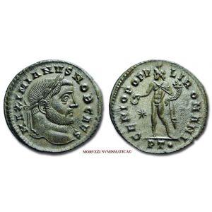 GALERIO MASSIMIANO, Cesare, 293-311 d.C., FOLLIS, Emissione: 298-299 d.C., Zecca di Ticinum, Rif. bibl. R.I.C., 35b; Cohen, manca; Metallo: AE, gr. 9,31, (MR26916), Diam.: mm. 28,05, mSPL