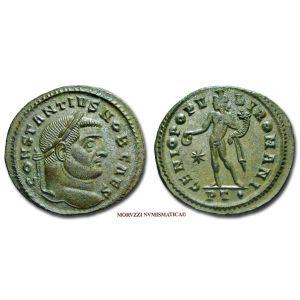 COSTANZO I CLORO, Cesare, 305-306 d.C., FOLLIS, Emissione: 298-299 d.C., Zecca di Ticinum, Rif. bibl. R.I.C., 35a; Cohen, 107; Metallo: AE, gr. 10,09, (MR26918), Diam.: mm. 28,93, SPL