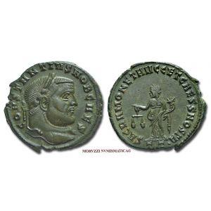 COSTANZO I CLORO, Cesare, 309-313 d.C., FOLLIS, Emissione: 300-303 d.C., Zecca di Ticinum, Rif. bibl. R.I.C., 44a; Cohen, 264; Metallo: AE, gr. 8,32, (MR26919), Diam.: mm. 27,39, BB  Ex Sintoni 1587/2.