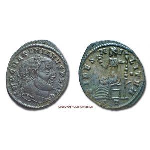 MASSIMIANO ERCULEO, 286-310 d.C., FOLLIS, Emissione: 305 d.C., Zecca di Ticinum, Rif. bibl. R.I.C., 55b; Cohen, 114; Metallo: AE, gr. 8,51, (MR26922), Diam.: mm. 29,02, mBB
