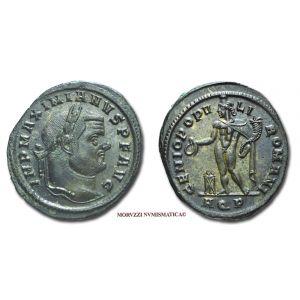 MASSIMIANO ERCULEO, 286-310 d.C., FOLLIS, Emissione: 299 d.C., Zecca di Aquileia, Rif. bibl. R.I.C., 27b; Cohen, 197; Metallo: AE, gr. 10,46, (MR26924), Diam.: mm. 27,71, SPL