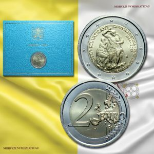 Città del Vaticano, 2 euro 2019 FDC, 25º anniversario del Restauro della Cappella Sistina / monete vaticane di Papa Francesco (2 EUROS BU - 2€ commemorative coins -