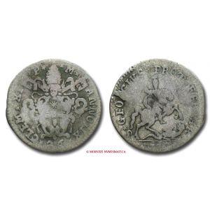 Stato Pontificio, CLEMENTE XI, Albani, 1700-1721, DOPPIO GROSSETTO DA 26 QUATTRINI, 1709 - OFFERTA SPECIALE