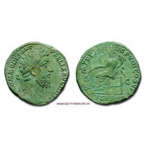COMMODO, SESTERZIO, 187-188 d.C., P M TR P XIII IMP VIII COS V P P, S C, FOR RED, (RIC 513) - OFFERTA SPECIALE