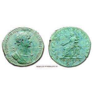 ADRIANO, SESTERZIO, 117 d.C., DAC PARTHICO P M TR P COS P P / CONCORDIA S C, zecca di Roma, mBB, (RIC 535) / HADRIANUS SESTERTIUS ancient coins (monete romane imperiali antiche di bronzo - Impero Romano) HADRIEN SESTERCE - SESTERCIO - OFFERTA SPECIALE