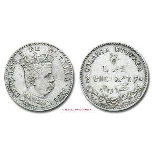 Colonia Eritrea, UMBERTO I 1890-1896, LIRA, 1896