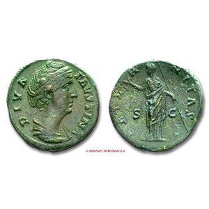 FAUSTINA I, SESTERZIO, dopo il 141 d.C.