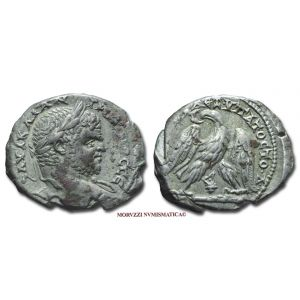 CARACALLA, 198-217 d.C., TETRADRAMMA, Emissione: 213-217 d.C., Zecca di Tiro (Fenicia), Rif. bibl. Prieur, 1548; Metallo: AR, gr. 12,81, (MR70651), Diam.: mm. 28,78, BB, (NC)
