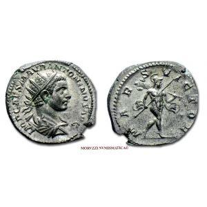 ELAGABALO, ANTONINIANO, 218-219 d.C., MARS VICTOR, zecca di Roma, ARGENTO, SPL, (R), (RIC 122/S) / Elagabalus SILVER ANTONINIANUS ancient coins (monete romane imperiali antiche rare d'argento - moneta romana di Eliogabalo - Impero Romano) OFFERTA SPECIALE