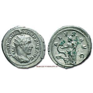 FILIPPO I L'ARABO, 244-249 d.C., ANTONINIANO, Emissione: 244-247 d.C., Zecca di Roma, Rif. bibl. R.I.C., 47; Cohen, 205; Metallo: AR, gr. 5,11, (MR8452), Diam.: mm. 24,54, SPL
