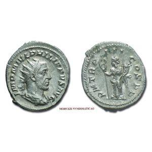 FILIPPO I L'ARABO, 244-249 d.C., ANTONINIANO, Emissione: 246 d.C., Zecca di Roma, Rif. bibl. R.I.C., 3; Cohen, 124; Metallo: AR, gr. 3,83, (MR8453), Diam.: mm. 23,30, SPL