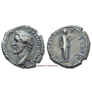 ANTONINO PIO, 138-161 d.C., DENARIO, Emissione: 138 d.C., Zecca di Roma, Rif. bibl. R.I.C., 7/S; Cohen, 68/Fr.6; Metallo: AR, gr. 2,92, (MR88286), Diam.: mm. 17,71, qBB, (R)