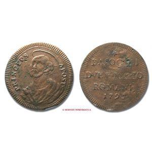 Stato Pontificio, PIO VI, Braschi 1775-1799, BAIOCCHI ROMANI 2 e 1/2, 1795