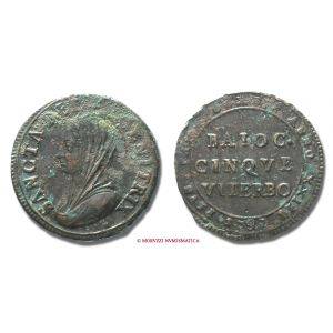 Stato Pontificio, PIO VI, Braschi, 1775-1799, BAIOCCHI 5, 1797