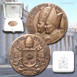 Città del Vaticano, FRANCESCO, MEDAGLIA STRAORDINARIA, AE, 2014, FDC / Pope Francis Bergoglio BRONZE MEDALS (medaglie papali di bronzo da collezione - medaglie pontificie straordinarie)