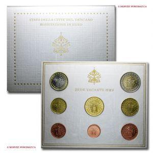 Città del Vaticano, SEDE VACANTE, serie ufficiale, 8 valori, 2005, FDC - OFFERTA SPECIALE
