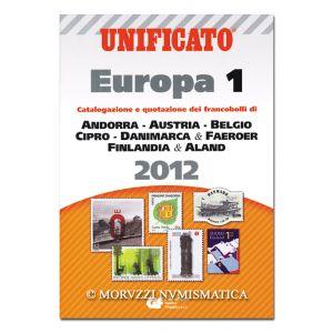 AA.VV., Unificato Europa 1, Catalogazione e quotazione dei francobolli di Andorra, Austria, Belgio, Cipro, Danimarca & Faeroer, Finlandia & Aland, 2012